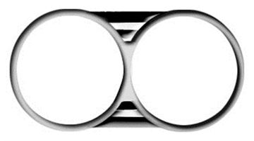 Picture of HEADLAMP BEZEL 1966  **PAIR** : M1385 EL CAMINO 66-66