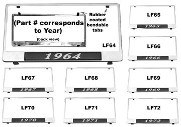 Picture of LICENSE PLATE FRAMES 1964 : LF64 EL CAMINO 64-64