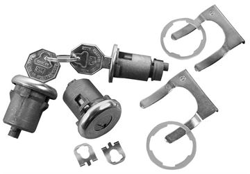 Picture of LOCK KIT DR/IGNITION ORIGINAL KEY : 143A EL CAMINO 65-65