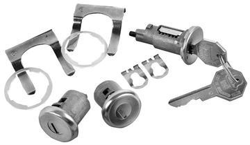 Picture of LOCK KITS IGNITION & DOOR ORIGINAL : 105A EL CAMINO 68-68