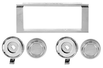 Picture of RADIO BEZEL & KNOB KIT 1964-65 : AM-1400 EL CAMINO 64-65