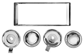 Picture of RADIO BEZEL & KNOB KIT 1966-67 : AM-1410 EL CAMINO 66-67