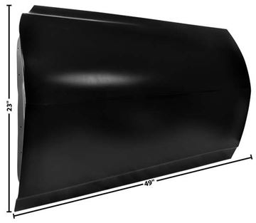 Picture of DOOR SHELL LH 68 CUSTOM : 1076DX FIREBIRD 68-68