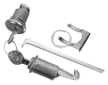 Picture of LOCK KIT GLOVEBOX & TRUNK ORIGINAL : 122A FIREBIRD 67-68