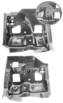 Picture of FIREWALL/FRAME BRACKET 68-69 PAIR : 1509F GTO 68-69