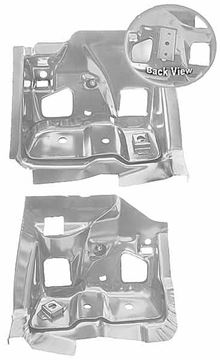 Picture of FIREWALL/FRAME BRACKET 68-69 PAIR : 1509FWT GTO 68-69