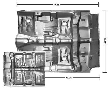 Picture of FLOOR PAN COMPLETE 64-67 W/BRACES : 1462WA GTO 64-67