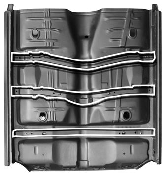 Picture of FLOOR PAN COMPLETE W/REAR SEAT PAN : 1462X GTO 68-69