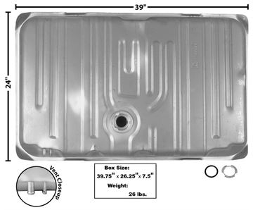 Picture of GAS TANK 1968-70 W/O FILL NECK : T76 GTO 68-70