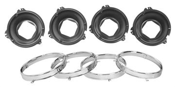 Picture of HEADLAMP MOUNT BUCKET W/RINGS SET : LH30 GTO 66-70