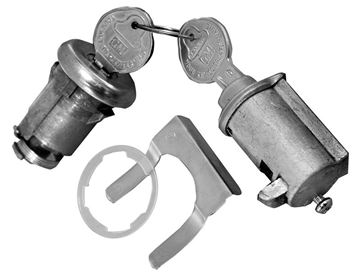 Picture of LOCK KIT TRUNK & GLOVEBOX ORIGINAL : 196A GTO 66-67