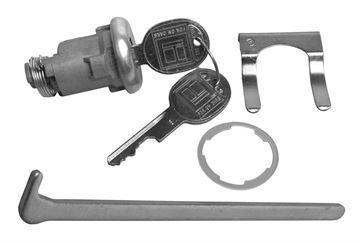 Picture of LOCK KIT TRUNK LATER : 1575 GTO 64-65