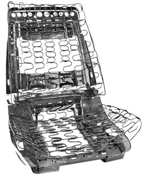 Picture of SEAT FRAME ASSY FRONT BUCKET : 1402A GTO 69-72