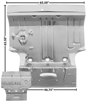 Picture of TRUNK FLOOR PAN 64-67 COMPELTE : 1584WT GTO 64-67
