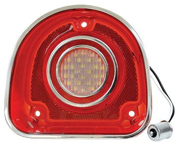 Picture of BACK-UP LIGHT RED/CLEAR W/TRIM 68 : CBL6851LED IMPALA 68-68