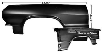 Picture of FENDER  1964 LH** : 1704A IMPALA 64-64
