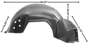 Picture of FENDER INNER LH 66 : 1725 IMPALA 66-66