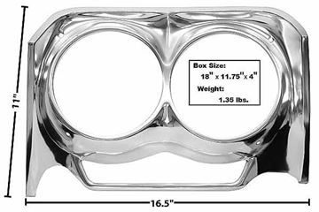 Picture of HEADLAMP BEZEL RH 62 : M1719M IMPALA 62-62