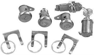 Picture of LOCK KIT ORIGINAL W/ SHORT CYLINDER : 425 IMPALA 61-62