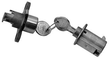 Picture of LOCK KIT TRUNK & GLOVEBOX ORIGINAL : 460 IMPALA 59-59