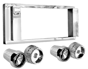 Picture of RADIO BEZEL & KNOB KIT 1963-64 : AM-1715 IMPALA 63-64