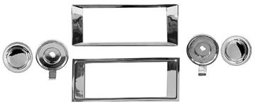 Picture of RADIO BEZEL & KNOB KIT 1969-72 : AM-1730 IMPALA 69-72
