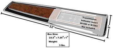 Picture of CONSOLE TOP PLATE 70-72 AUTO : M1580 MONTECARLO 70-72