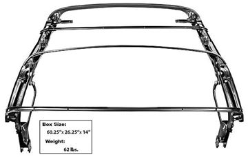 Picture of CONVERTIBLE TOP FRAME W/BOW 65-68 : 3628 MUSTANG 65-68
