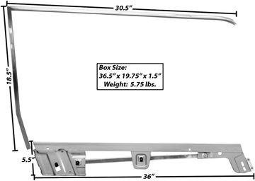 Picture of DOOR WINDOW FRAME KIT RH 1967-68 CV : 3614CA MUSTANG 67-68
