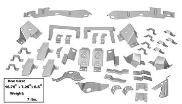 Picture of FASTBACK BRACKET KIT FOR 67-68 : 67FBBRKT MUSTANG 67-68