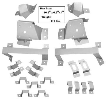 Picture of FASTBACK TRIM BRACKET KIT 21PC. : 3643ZK MUSTANG 67-68