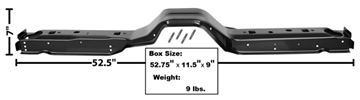 Picture of FLOOR CROSS BRACE FRONT 1983-93 : 3648XC MUSTANG 83-93