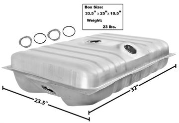 Picture of GAS TANK 71-73 : T24A MUSTANG 71-73