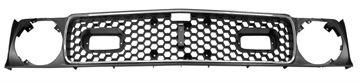 Picture of GRILLE 71-72 MACH 1 W/MOLDING : M3629J MUSTANG 71-72