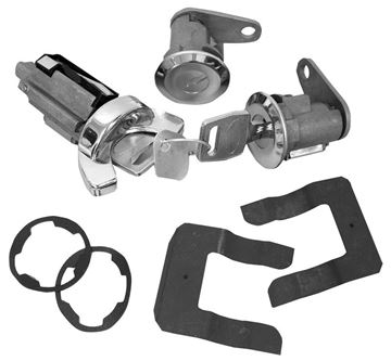 Picture of LOCK KIT IGNITION & DOOR 1970-73 : CL-1556 MUSTANG 70-73