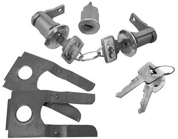 Picture of LOCK KIT IGNITION AND DOOR 1965-66 : CL-4877P MUSTANG 65-66