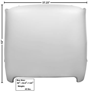 Picture of ROOF PANEL 69-70 FASTBACK : 3643XCWT MUSTANG 69-70