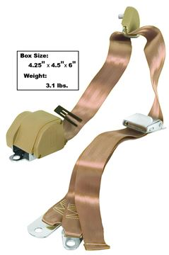 Picture of SEAT BELT 3-POINT MOUNT   TAN : SB3-TAN MUSTANG 65-73