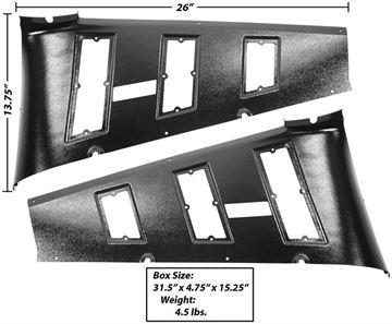 Picture of TRIM PANEL/QUARTER VENT 1965-66 FB : M3548T MUSTANG 65-66