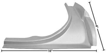 Picture of TRUNK REAR CORNER RH 1965-66 CP/CV : 3649DCWT MUSTANG 65-66