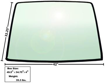 Picture of WINDOW/REAR GLASS 1967-68 FASTBACK : X3671 MUSTANG 67-68