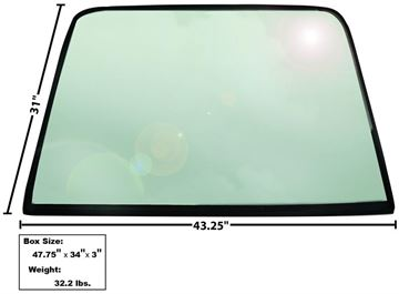 Picture of WINDOW/REAR GLASS 1969-70 FASTBACK : X3673 MUSTANG 69-70