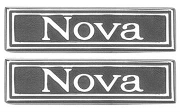 Picture of DOOR PANEL EMBLEM 69-72 PAIR : 7790751 NOVA 69-72