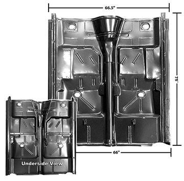 Picture of FLOOR PAN COMPLETE W/ROCKER 62-67 : 1636E NOVA 62-67