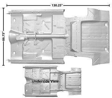 Picture of FLOOR/TRUNK PAN COMPLETE 66-67 : 1636AEWT NOVA 66-67
