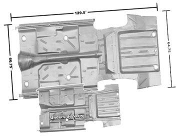 Picture of FLOOR/TRUNK PAN COMPLETE 66-67 : 1636AFWT NOVA 66-67