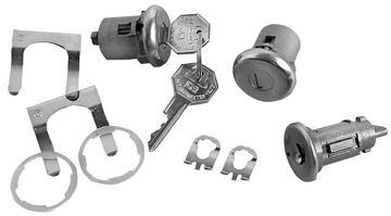 Picture of LOCK KITS IGNITION & DOOR ORIGINAL : 104A NOVA 66-67