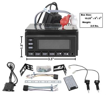 Picture of RADIO MODEL ONE BLACK FACE 65-73 : AM-MOD1 NOVA 64-72