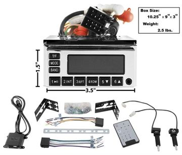 Picture of RADIO MODEL ONE CHROME 65-73 : AM-MOD1C NOVA 67-72