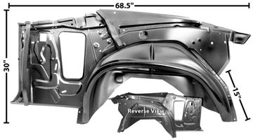 Picture of QUARTER/WHEELHOUSE ASSY LH 70-72 70-72 : 1417D CHEVELLE 70-72
